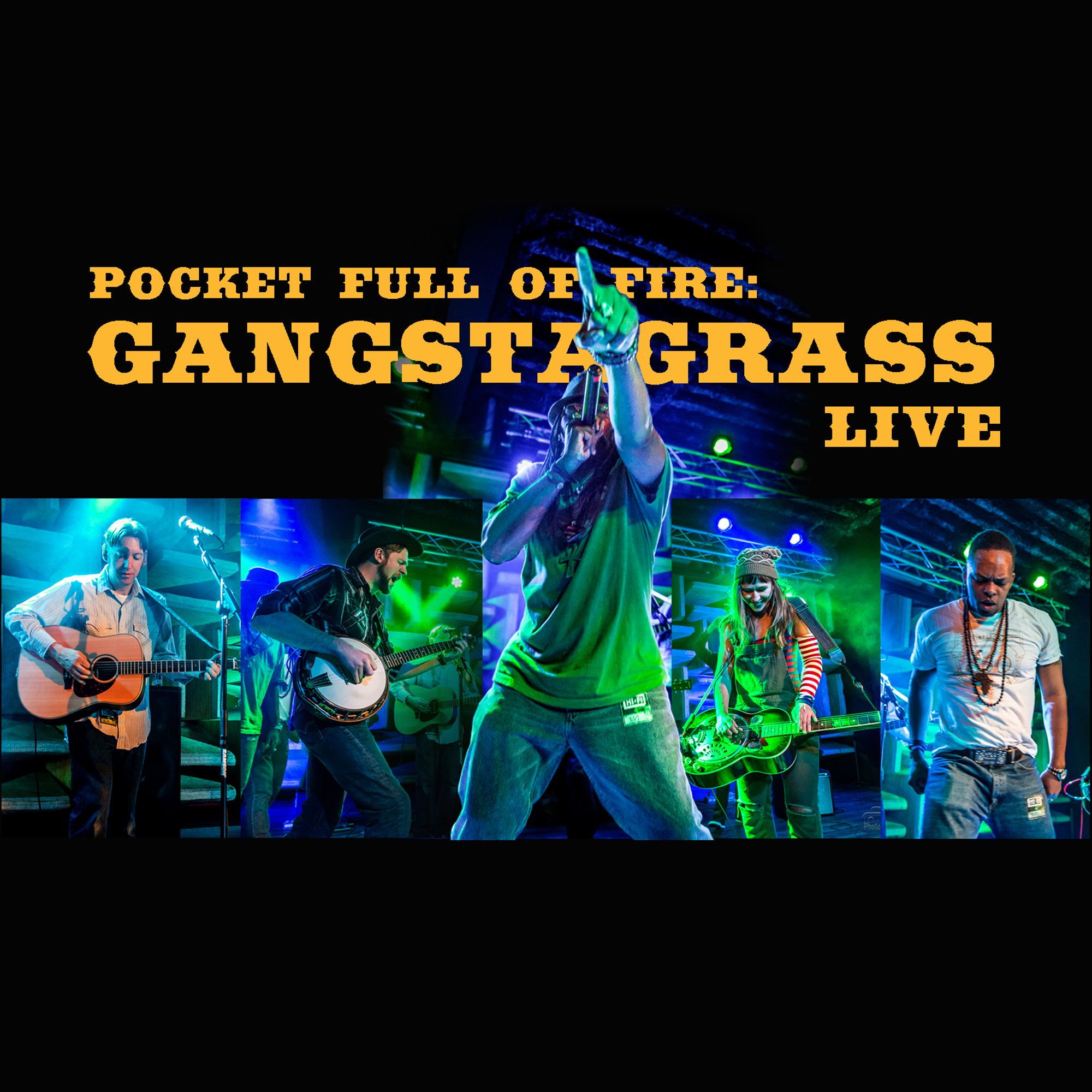 Gangstagrass: Pocket Full of Fire, Album Cover title=